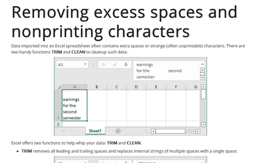 Removing excess spaces and nonprinting characters