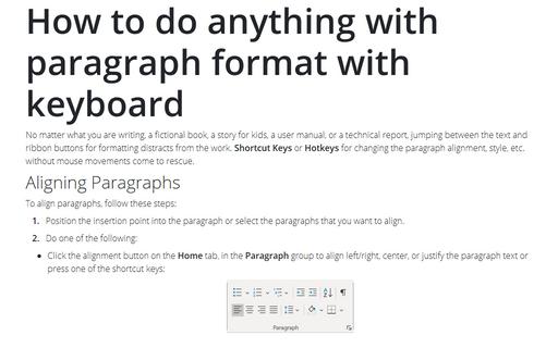 11 Shortcut Keys to control font format - Microsoft Word 2016