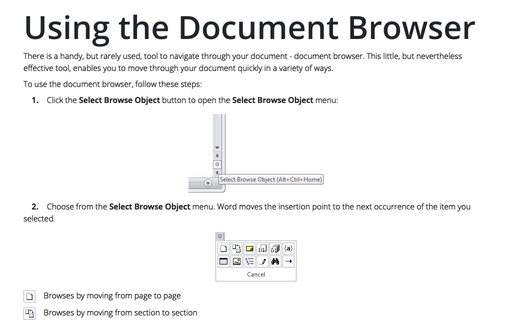 Using the Document Browser