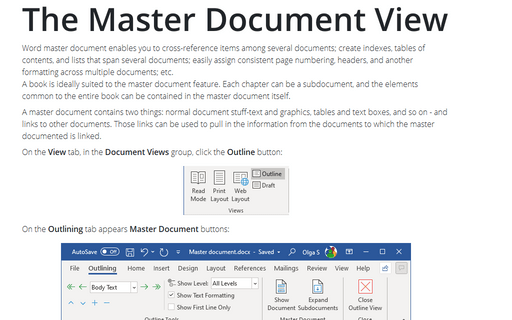 The Master Document View