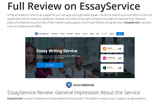 Full Review on EssayService