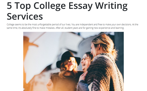5 Top College Essay Writing Services