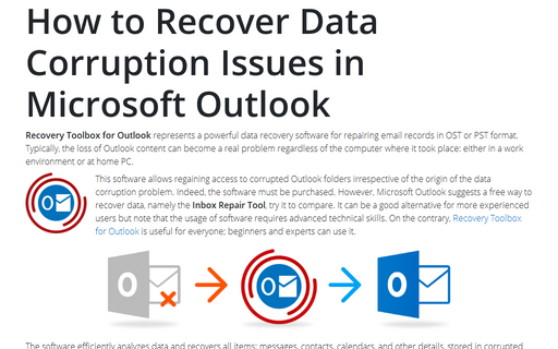 How to Recover Data Corruption Issues in Microsoft Outlook