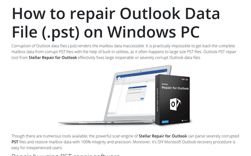 How to repair Outlook Data File (.pst) on Windows PC