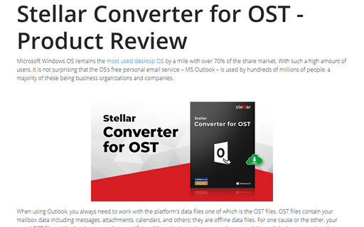 Stellar Converter for OST - Product Review