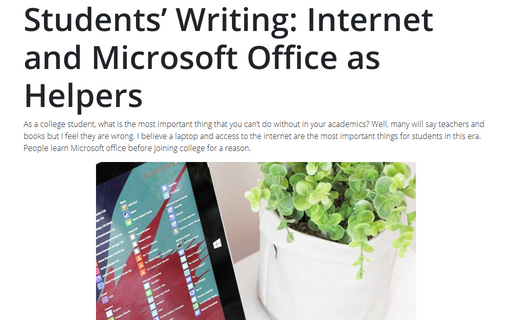Students' Writing: Internet and Microsoft Office as Helpers